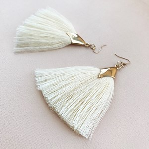 Saddle Long Fringe Hook Earrings
