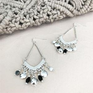 Delila Beaded Chandelier Earrings
