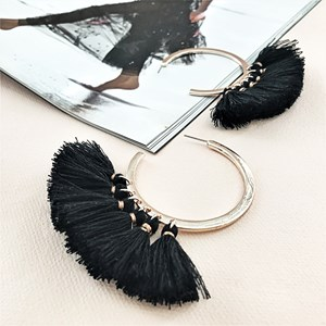 Cassidy Statement Tassel Earrings
