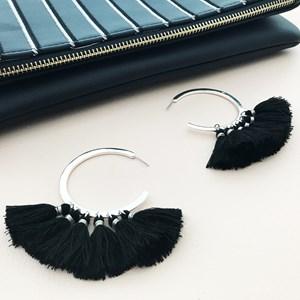 Cassidy Statement Tassel Earrings
