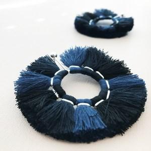 Tassel Wheel Stud Earrings
