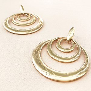 Ring Trio Stud Drop Earrings