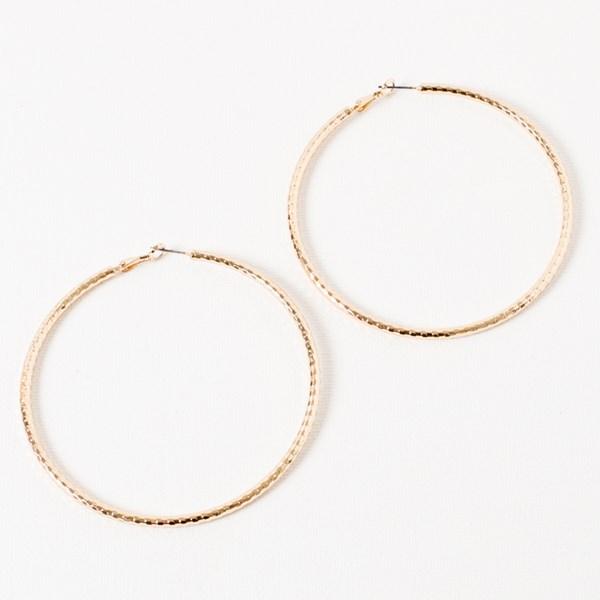 Facet Large Hoop Earrings