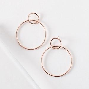 Empire Rings Hoop Earrings