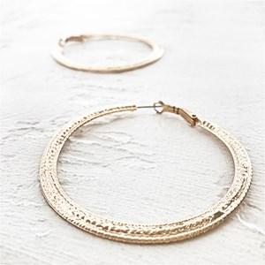 Fine Detail Hoop Earrings