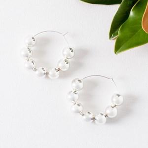Alexa Small Ball Hoop Earrings