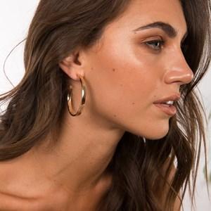 Brooklyn Flat Hoop Earrings