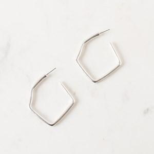 Geo Shape Stud Earrings