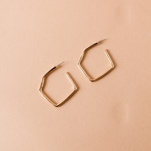 Geo Shape Stud Earrings