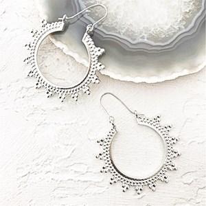 Majesty Dot Pattern Hook Earrings