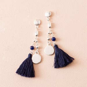 Beaded Tassel Stud Earrings