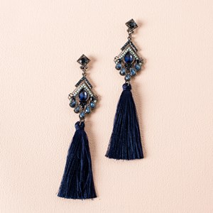 Jewel Tassel Drop Earrings
