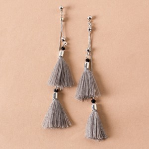 Chain Tassel Drop Stud Earrings