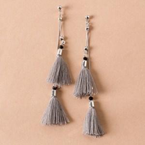 Chain Tassel Drop Stud Earrings