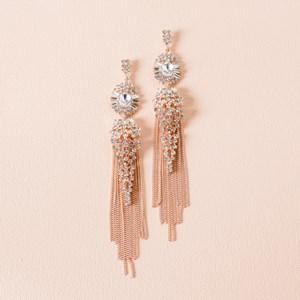 Jewelled Chain Tassel Earrings