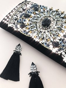 Jewelled Top Tassel Earrings