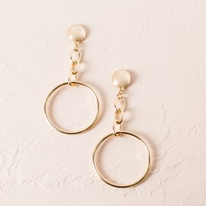 Links & Circle Earrings