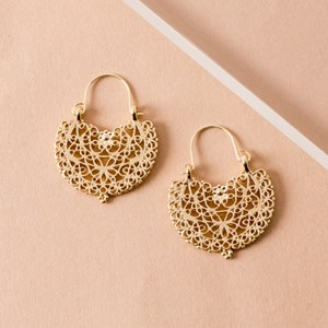Filigree Mini Clip Top Earrings