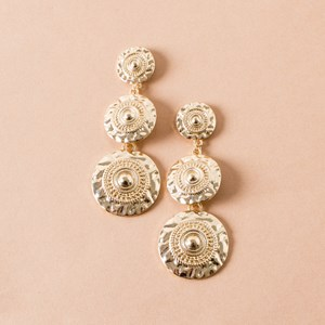 Romanesque Disks Earrings