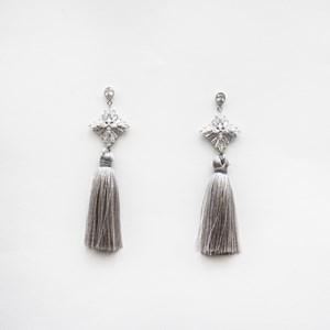 CZ Diamante Long Tassel Earrings