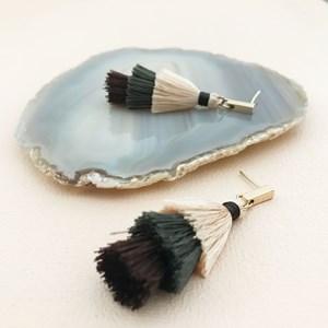 Layered Tassel Rod Earrings