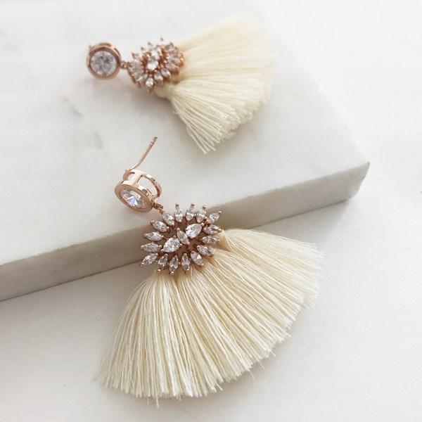 Fringed Diamante Earrings