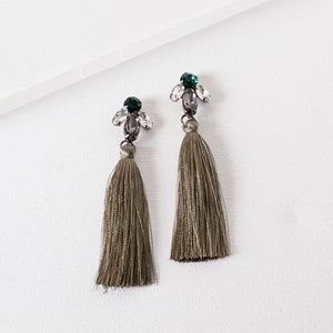 Jewelled Tassel Earrings