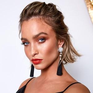 Baguette Jewel Top Tassel Earrings