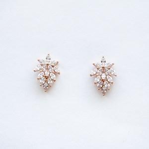 Orchid Diamante Stud Earrings