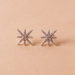 Moroccan Star Diamate Earrings