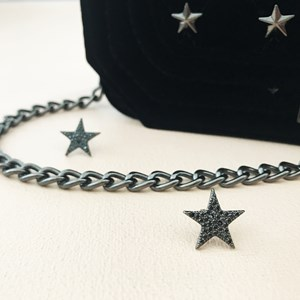 Diamante Star Stud Earrings