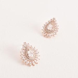 Diamante Deco Stud Earrings