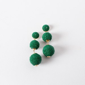 Trio Beaded Balls Earrings