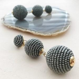 Trio Beaded Balls Earrings