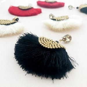 Beaded Saddle Fringe Earrings