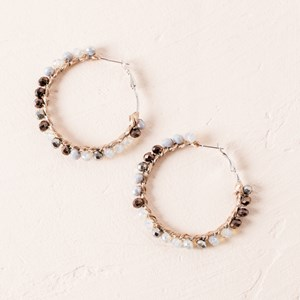 Beaded Edge Hoop Earrings