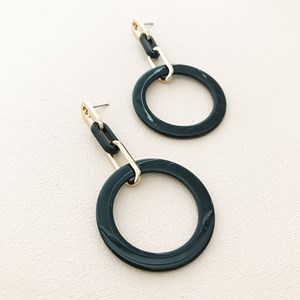 Resin Links & Ring Drop Earrings