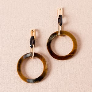 Resin Links & Ring Drop Earrings