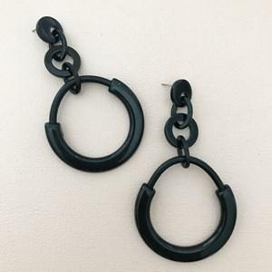 Rings Resin Earrings