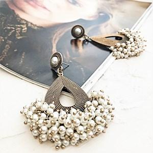 Pearl Cluster Opulent Teardrop Earring