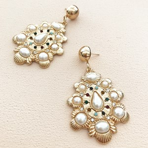 Italian Jewel Mix Teardrop Earring