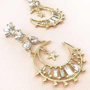 Jewelled Moonshine Drop Earrings