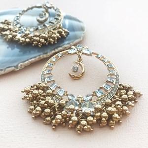 Metal Ball Charms Jewel Ring Earring