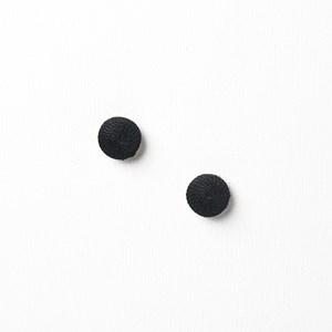 Fabric Button Stud Earrrings