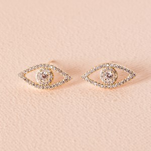 CZ Diamante Eye Stud Earring