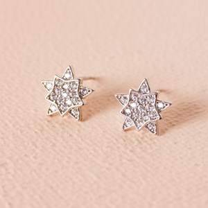 CZ Diamante Guiding Star Stud Earring
