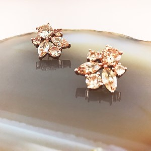 Almond Jewelled Cluster Earring