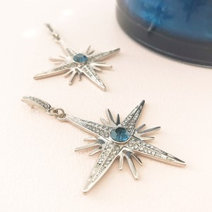 Jewelled Guiding Star Drop Earring