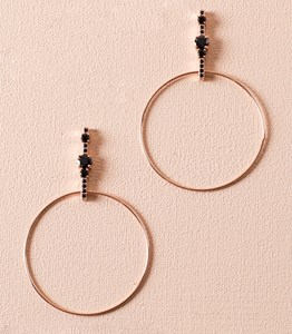 Large Hoop Jewel Top Earring