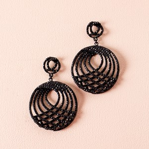 Diamante Architectural Curved Earring